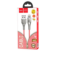 Кабель Hoco U59 Enlightenment charging data cable for Lightning Red, фото 2