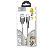 Кабель Hoco U59 Enlightenment charging data cable for Type-C Metal Gray, фото 2