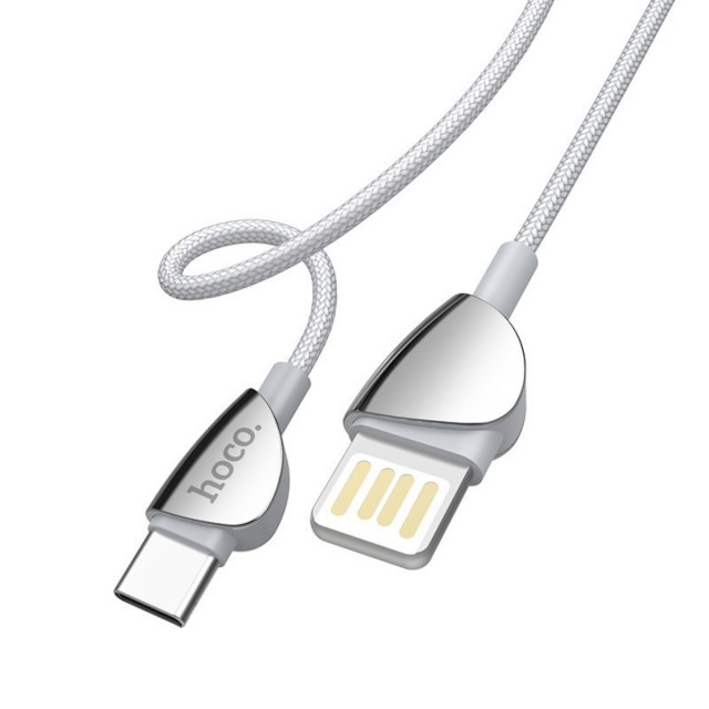 Кабель Hoco U62 Simple charging data cable for Type-C Silver