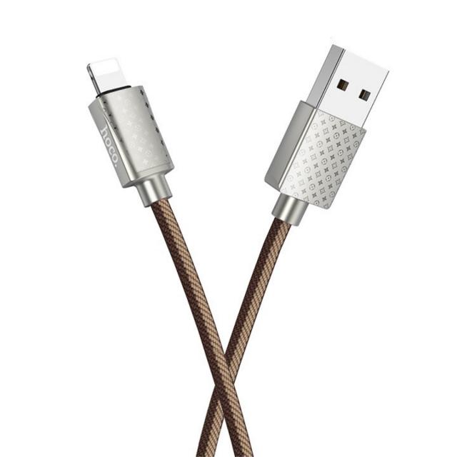 Кабель Hoco U61 Treasure charging data cable for Lightning Brown