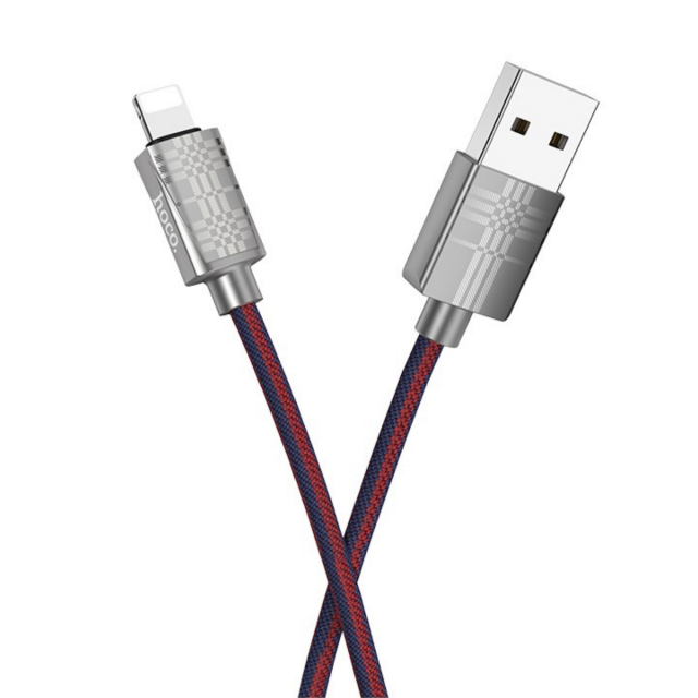 Кабель Hoco U61 Treasure charging data cable for Lightning Синий