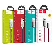 Кабель Hoco U61 Treasure charging data cable for Lightning Синий, фото 2