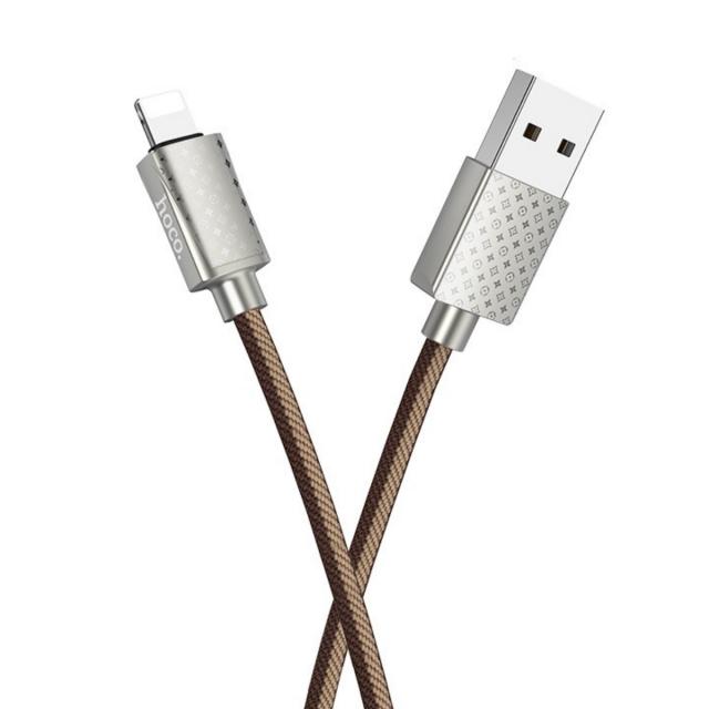 Кабель Hoco U61 Treasure charging data cable for Lightning LV Brown