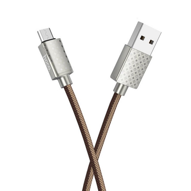Кабель Hoco U61 Treasure charging data cable for Micro LV Brown