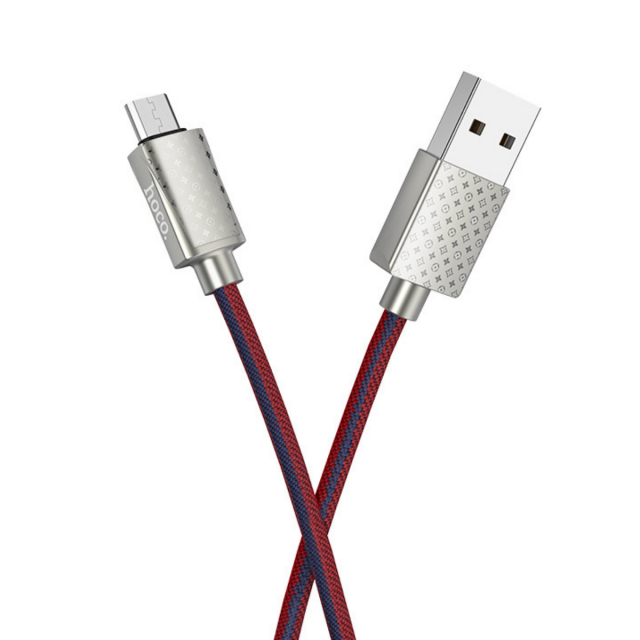 Кабель Hoco U61 Treasure charging data cable for Micro LV Red