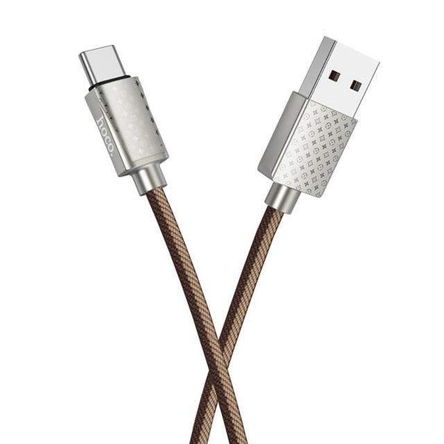 Кабель Hoco U61 Treasure charging data cable for Type-C LV Brown