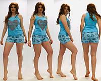 Комплект для сна майка с шортами из хлопкового трикотажа 44-52 р