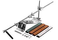 Точильное устройство для ножей Ruixin, из металла, четыре бруска, чехол, точилки для ножей и ножниц