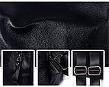 Рюкзак сумка міський жіночий шкіряний. Рюкзак трансформер з натуральної шкіри (чорний), фото 9