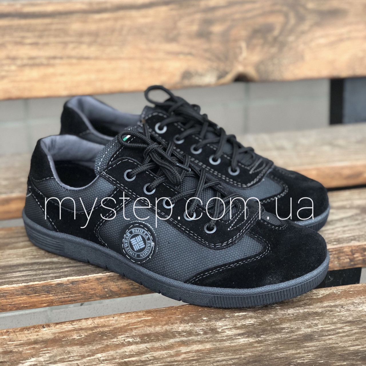 Кроссовки мужские черные Paolla 131