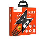 Кабель Hoco U67 Soft silicone charging data cable for Micro Black, фото 2