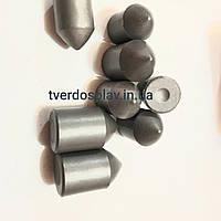 Пластины твердосплавные (вставки, зубки) для оснастки горно-режущего инструмента ВК8ВК, ВК10