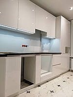 Кухня белая на заказ в стиле минимализм Blum furniture, фото 1