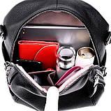 Рюкзак сумка міський жіночий стильний з екошкіри Зірка. Сумка трансформер (чорний), фото 10