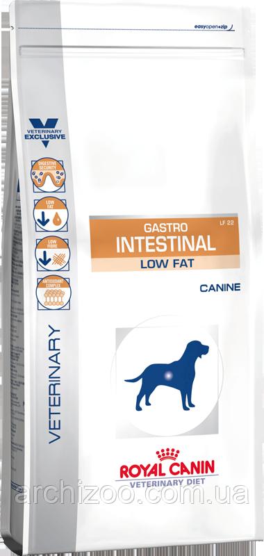 Royal Canin Gastro Intestinal Low Fat 12кг Диета с ограниченным содержанием жиров, при нарушениях пищеварения у
