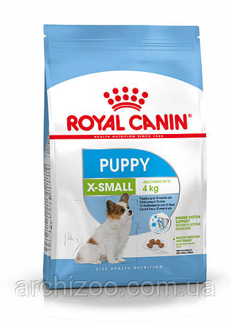 Royal Canin X-Small Puppy 1,5кг для щенков миниатюрных пород до 10 месяцев, фото 2