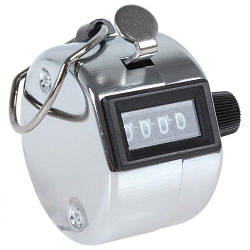Ручний 4-розрядний лічильник Kronos 0000-9999 металевий (acf_00050)