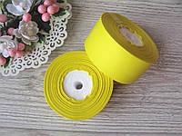 Лента репсовая 4 см желтая, бобина 18 м - 51 грн, фото 1