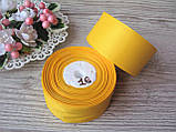 Лента репсовая 4 см темно желтая, бобина 18 м - 51 грн, фото 3