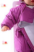 Демисезонный комбинезон для новорожденного (0-6 месяцев) Сливовый, фото 4
