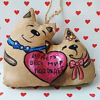 Ароматизированная мягкая игрушка Коты Неразлучники ручной работы с ароматом кофе, ванили и корицы.
