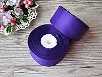 Лента репсовая 4 см темно фиолетовая, бобина 18 м - 51 грн, фото 1