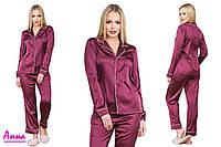Шелковая пижама с  кантом (рубашка и штаны, размер: 42,44,46,48, в разных цветах), фото 1