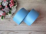 Лента репсовая 4 см темно голубой, бобина 18 м - 51 грн, фото 2