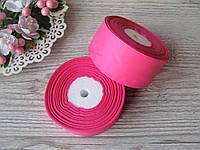 Лента репсовая 4 см темно-розовый, бобина 18 м - 51 грн, фото 1
