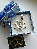 Срібний чоловічий кулон «Штурвал» - морський символ, який відповідає за вибір правильного шляху.