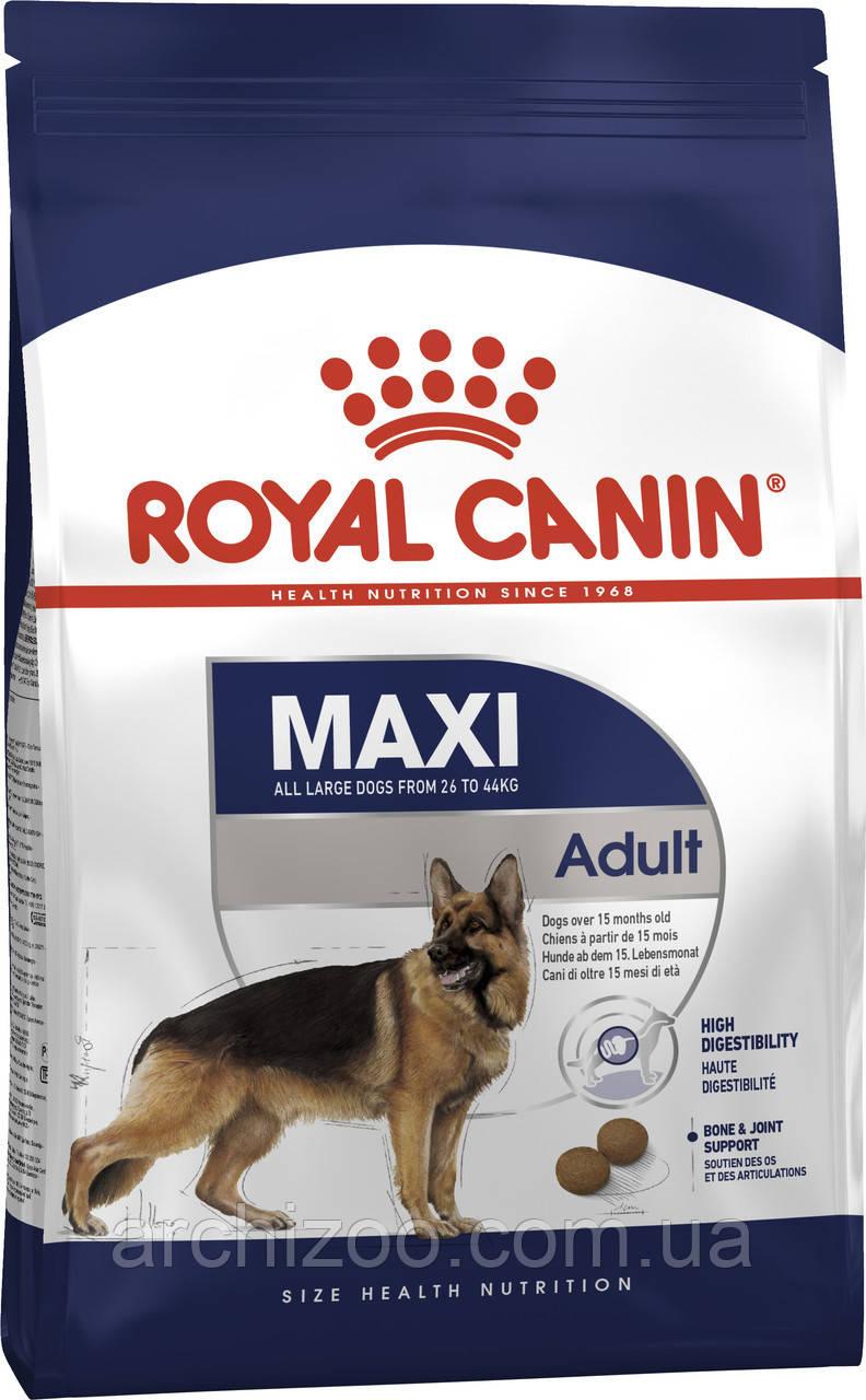 Royal Canin Maxi Adult 4кг для собак крупных пород от 15 мес. до 5 лет
