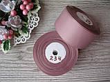 Лента репсовая 4 см розово-бежевый, бобина 18 м - 51 грн, фото 2