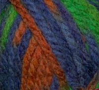 Пряжа меланж (зеленый, оранжевый, фиолетовый)