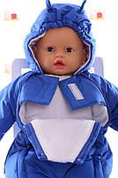 Демисезонный комбинезон для новорожденного (0-6 месяцев) Синий, фото 3