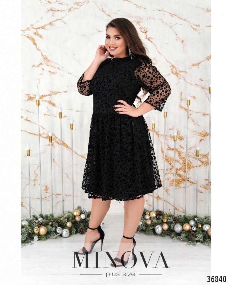 Платье №740Б-черный