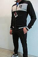 Мужскиой спортивный костюм Reebok (78285-1) черный с серым код 300 б