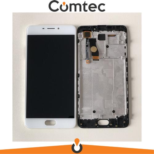Дисплей для Meizu M5 Note (M621) с тачскрином (Модуль) белый, с передней панелью (рамкой)
