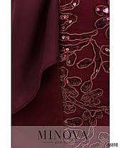 Модное коктейльное женское платье с шифоновой накидкой в 4-х цветах с 54 по 64 размер, фото 2