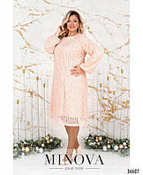 Нарядное женское платье батал А-силуэта с 56 по 64 размер