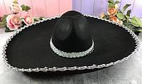 """Шляпа """"Сомбреро"""" с большими полями"""