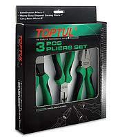 Набор шарнирно-губцевого инструмента, 3 предмета, Toptul GAAE0304