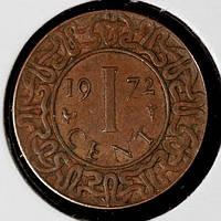 Монета Суринам 1 цент 1972 г., фото 1