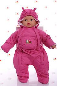 Демисезонный комбинезон для новорожденного (0-6 месяцев) Розовый