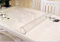 Прозрачная Скатерть Пленка мягкое стекло 1,2 мм (100*100 см)
