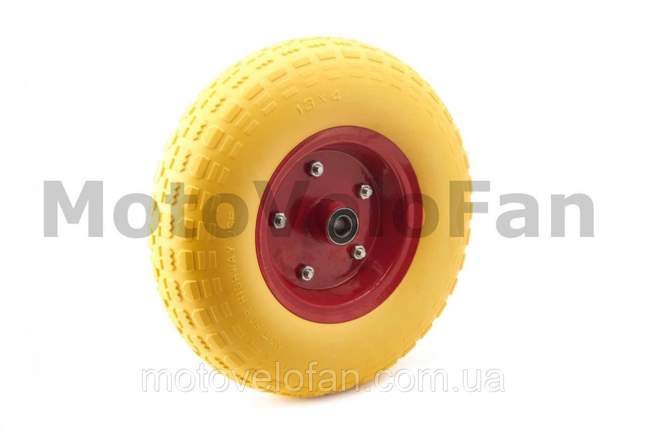 Колесо   4,00 -6   TL   (бескамерное, под ось d-16мм )   (желтое)   MRHD