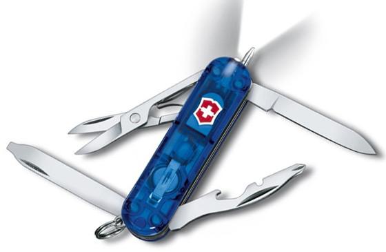 Качественный складной армейский нож Victorinox Midnite Manager 06366.T2 синий