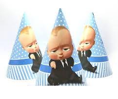 Ковпачки святкові дитячі для дня народження Бос Молокосос 10 шт
