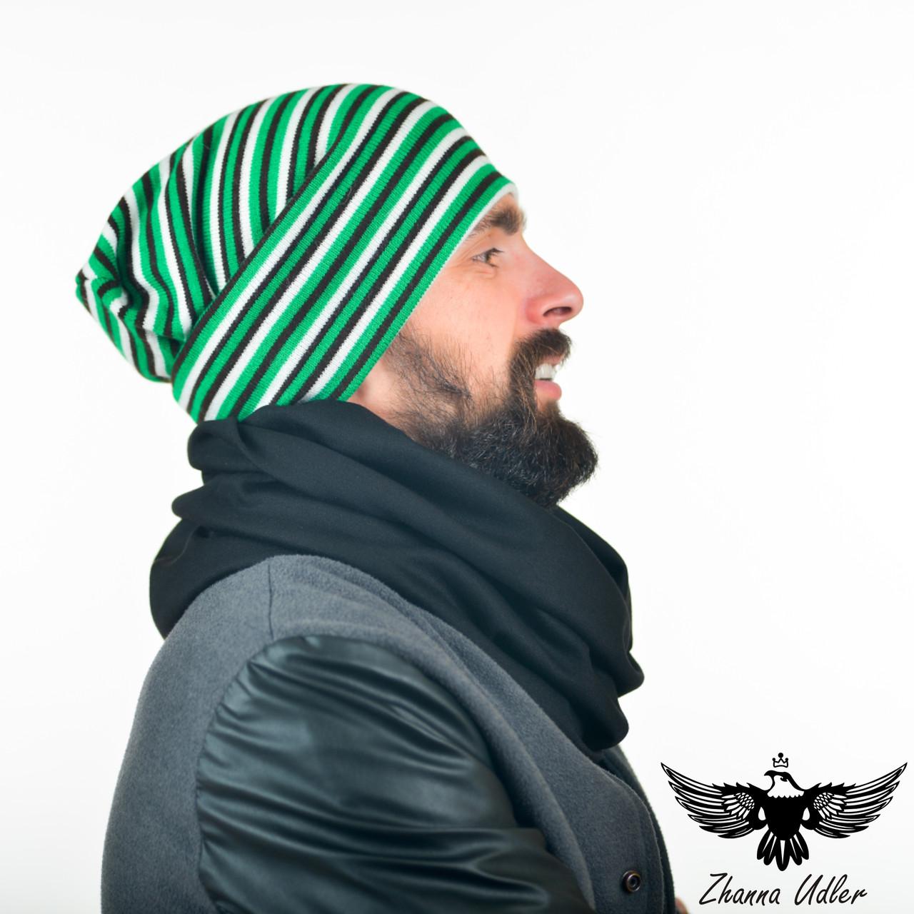 Шарф и шапка черного цвета