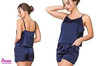"""Шелковая пижама """"майка и шорты"""" (размер:40,42,44,46,48, много цветов), фото 1"""