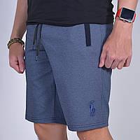 Остались размеры: 46,48. Мужские шорты Polo Ralph Lauren, Турция, трикотаж-пике - синие